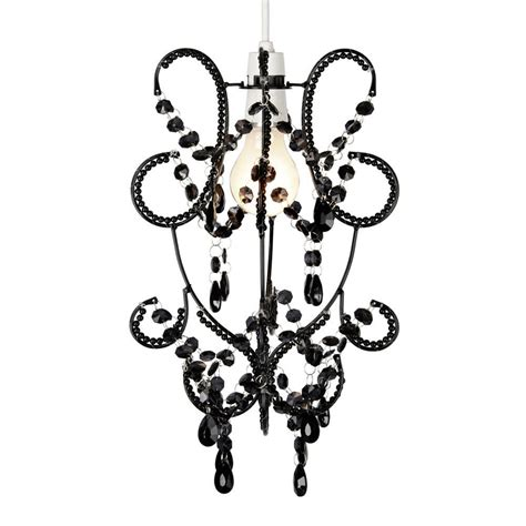 Black Chandelier Shade by Vintage Style Black Beaded Ceiling Light Pendant Shade