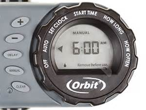 orbit digital hose sprinkler irrigation timer for vacation