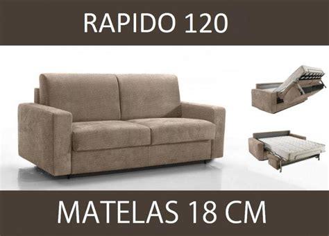 canape lit 2 places convertible canape lit 2 places master convertible ouverture rapido 120 cm microfibre ecru matelas 18 cm