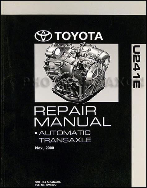 book repair manual 2002 toyota celica transmission control 2001 2006 toyota u241e automatic transmission repair shop manual original