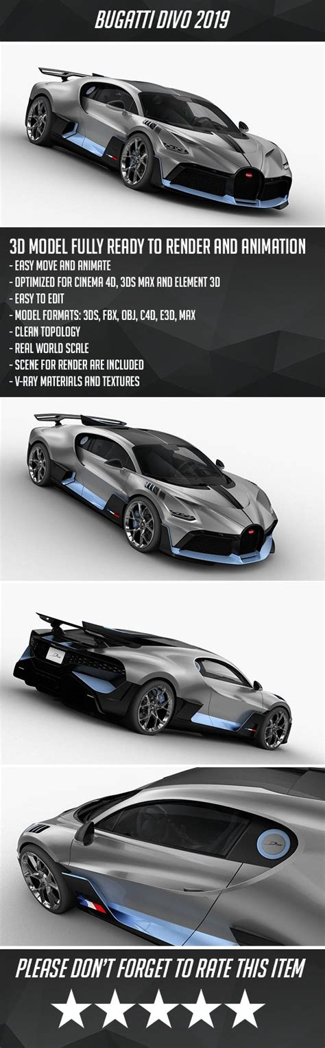 Play 3d bugatti racing for free! Bugatti Divo 2019. Fully editable and reusable 3D model of a car. #3D #3DModel #3DDesign # ...