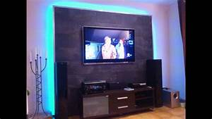 Tv Media Wand : led tv wand selber bauen cinewall do it yourself youtube ~ Sanjose-hotels-ca.com Haus und Dekorationen