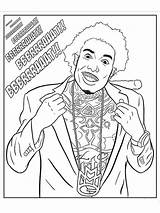 Coloring Rap Hip Rapper Hop Gangsta Gunplay Activity Printable Coloriage Livre Luxury Mycoloring Sheets Adult Because Start Colouring sketch template