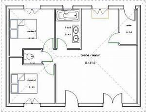 pavillon de plain pied en maconnerie avec 2 chambres With prix gros oeuvre maison 5 plan de maison entreprise de construction sur namur et