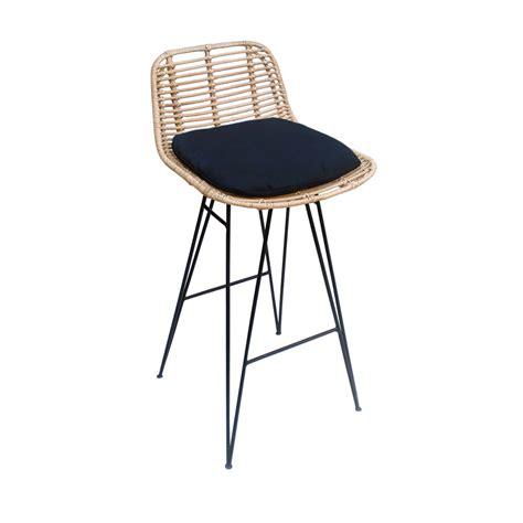chaise de bar noir chaise de bar design en rotin 69cm capurgana drawer