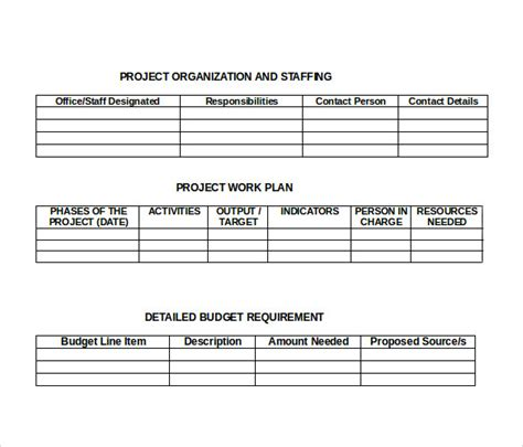 formal proposal samples sample templates
