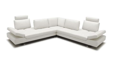 canapé angle cuir blanc canape blanc modulable mobilier moderne accueil design
