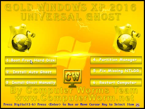 gold xp 2016 universal ghost bootable iso free computer worms team