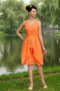 Elegant Orange Short Junior Bridesmaid Dress IMG_0823 (Free Shipping)