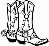 Cowboy Pages Coloring Boot Boots Clip Cliparts Square sketch template