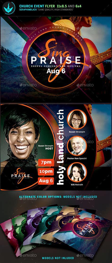 sing praise gospel concert flyer template  seraphimblack