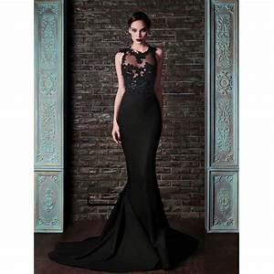 robe de soiree sirene noire all pictures top With robe longue sirene