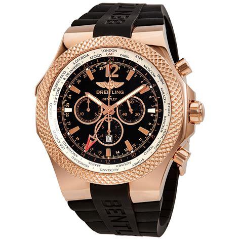 bentley breitling breitling bentley gmt black dial chronograph 18k rose gold