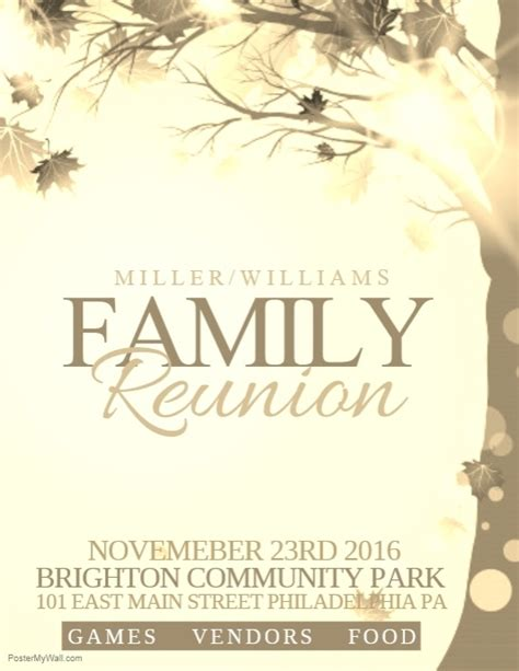 family reunion templates family reunion template postermywall