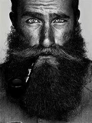 Black and White Portrait Beard