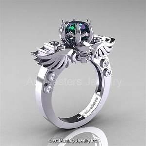 Antique Engagement Rings: Art Alexandrite Engagement Ring ...