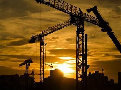 Cranes Construction History Crane Sunset Equipment Modern