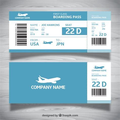 Boarding Pass Template Boarding Pass Template In Blue Tones Vector Free
