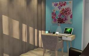 Deco Chambre Ami : bureau chambre d amis un bureau une biblioth que et une chambre d 39 amis dans 10m architecte d ~ Melissatoandfro.com Idées de Décoration