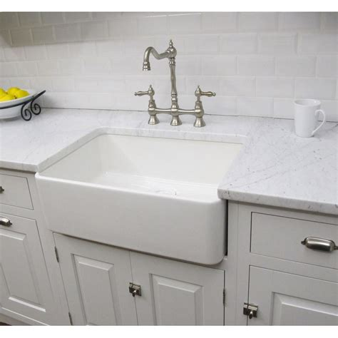 Farm Style Bathroom Sink by Constructed Of Fireclay This Large Bathroom Sink Has A