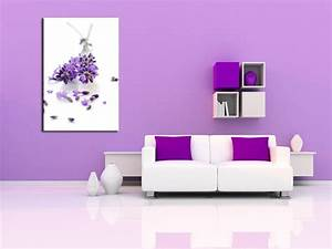 tableau lavande fleurs design pas cher decoration murale With decoration murale design salon