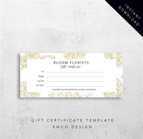 bloom gift certificate template florist gift voucher