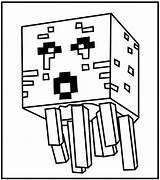 Minecraft Coloring Pages Print Game Dragon Raskraski Jellyfish Close sketch template