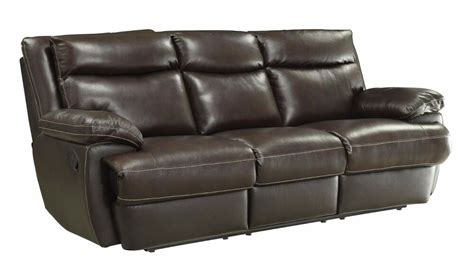 Top Sofas by Top Grain Brown Leather Power Reclining Sofa W Usb