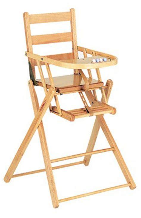chaise haute bébé en bois acheter chaise haute en bois pliante finition