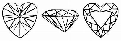 Coloring Diamond Heart Shape Pages Cut 28kb