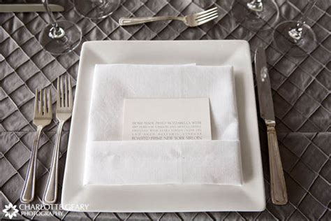 square plate table setting tiny little bubbles wedding food diy menu