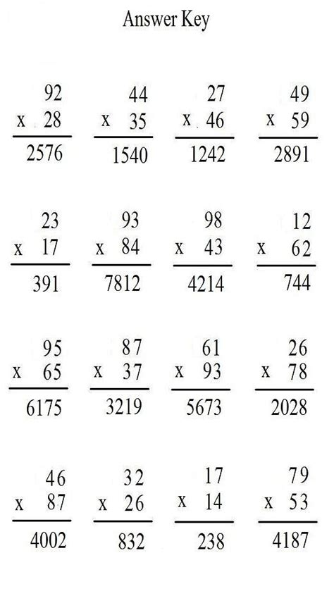 math worksheets   cross number puzzle
