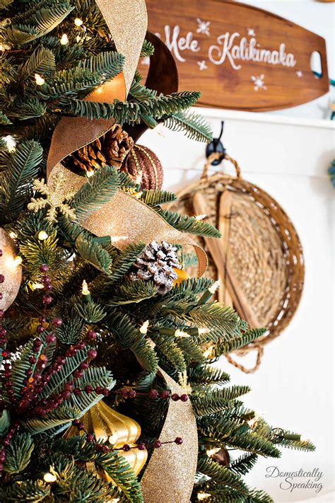 rustic luxe christmas tree  bloggers  christmas