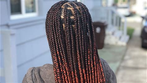 knotless box braids gripping creating  ombre youtube
