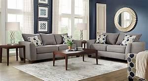 Bonita springs gray 7 pc living room living room sets gray for Living room furniture sets australia