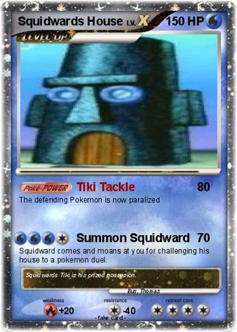 pokemon squidwards house tiki tackle  pokemon card