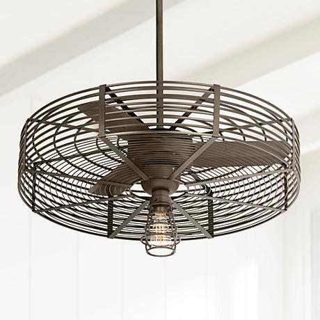 32 ceiling fan with light 32 quot vintage breeze 1 light bendlin cage ceiling fan