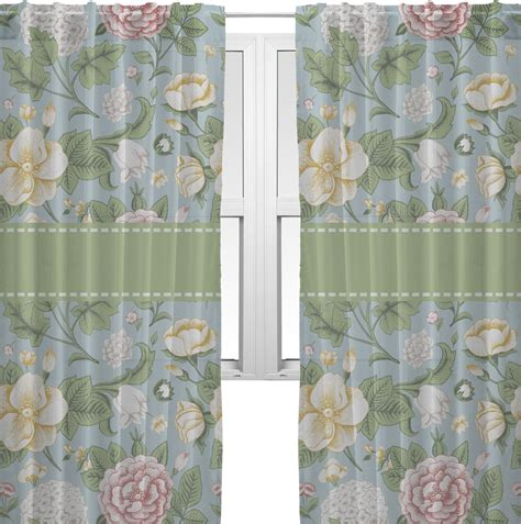 vintage floral window sheer scarf valance personalized