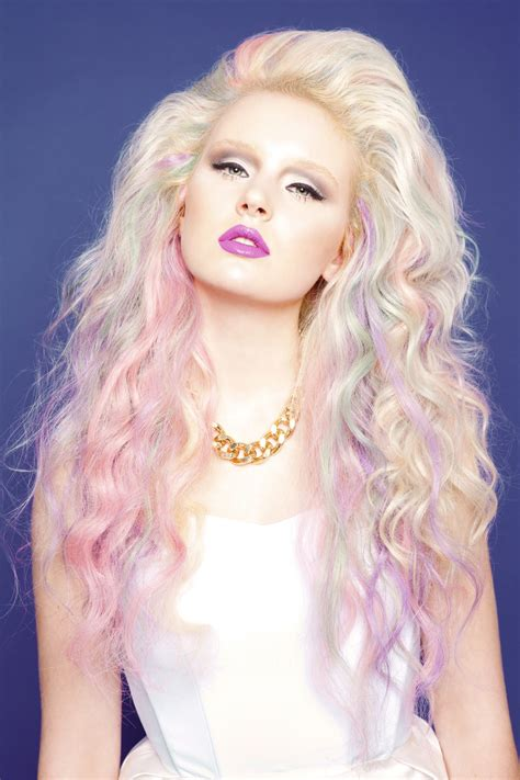 Purple And Green Streaks In Blonde Hair Colors Ideas