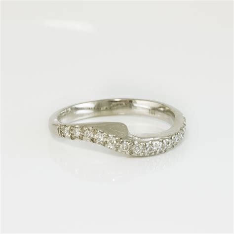fitted wedding ring engagement wedding rings