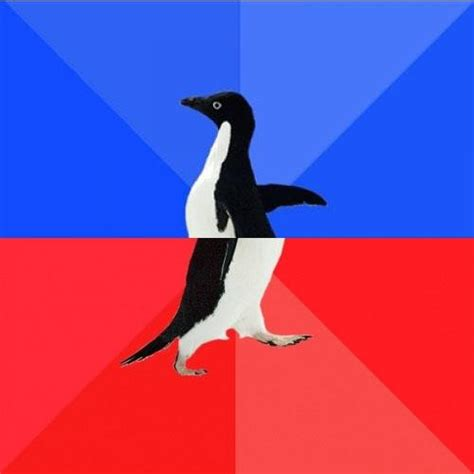 Meme Socially Awkward Penguin - socially awkward awesome penguin blank meme template imgflip