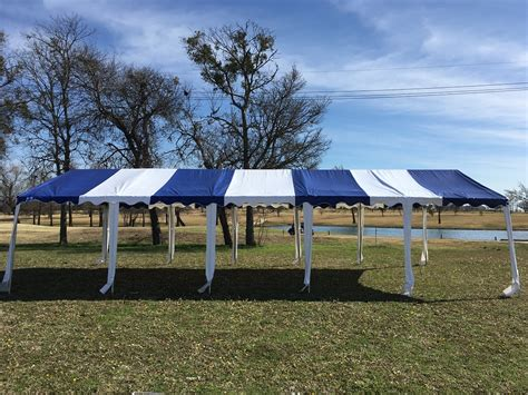 budget pvc wedding party tent canopy shelter blue white ebay