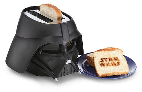 darth toaster darth vader toaster burns wars logo into bread