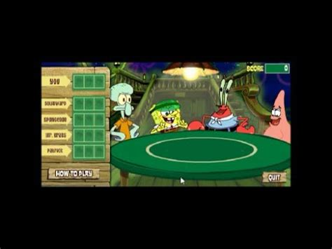 Spongebob Deck Drawdown by Indybob Plays Spongebob Squarepants Deck Draw W