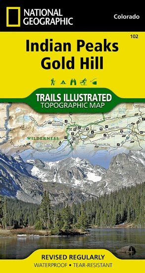 Trails Illustrated Colorado Series Indian Peaks Gold