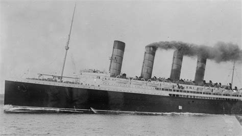 ww1 sinking of lusitania recalled bbc news