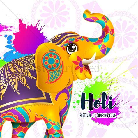holi festival background design vector image