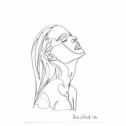 Drawing Line Minimal Drawings Sketch Face Sketches