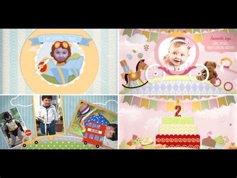 ae templates children children memory album and birthday invitation girl