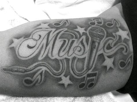 microphone   notes tattoo